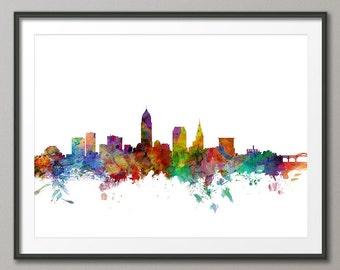 Cleveland Skyline, Cleveland Ohio Cityscape Art Print (1213)