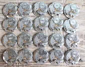 "Set of 20  watch movements 1"" (25 mm) - Featured - Steampunk jewelry supplies - Watch movements for art ... Vintage ... Steampunk Findings"