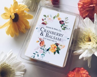 CRANBERRY & BALSAM Soy Wax Melts | Scented Wax Melts | Scented Wax Tarts