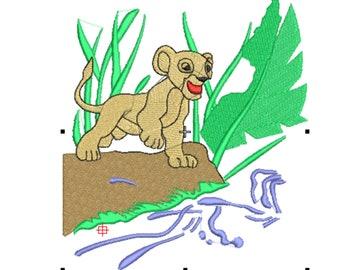 embroidery desing, file embroidery, ponchado, lion king, zimba