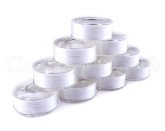 36 Size L White Prewound Bobbins - SA155 Replacement Bobbins - Fits Many Sewing and Embroidery Machines - See Compatibility List - Type L
