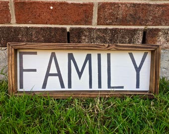 Rustic Family Sign. FREE SHIPPING