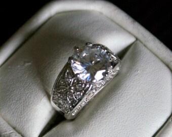Splendid CZ Silver Ring
