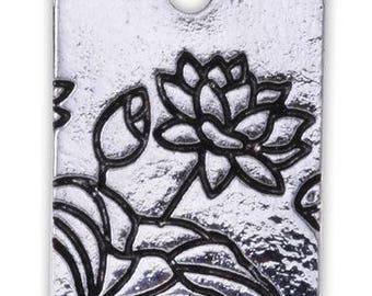 Lotus Pendant - Set of 4 - 13mm x 18mm - Jewelry Making