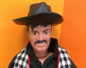 Vintage Lone Ranger action doll, figure by Gabriel, 1973, Made in Hong Kong, with weapons