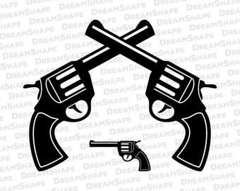 Double Gun SVG Files, Cowboy Gun SVG Files, Cowboy Pistol Svg File, Shooting Pistol Dxf Cutting File, Cowboy Gun SVG Files, Instant Download