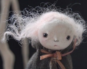 Violet - OOAK paperclay art doll