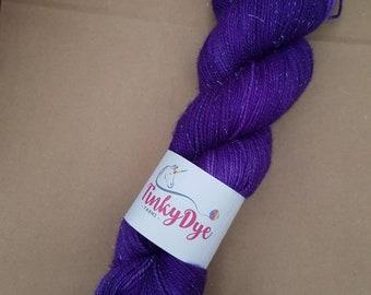 TinkyDye Sparkle  Merino/Nylon/Stellina  sock yarn 100g/400m