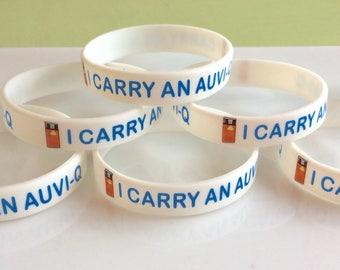 Allergy medical bracelets, Auvi-Q bracelet, allergy ID bracelet, Kids medical ID, kids allergy jewelry, nut allergy