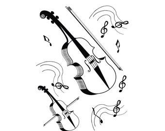 violin clipart | etsy