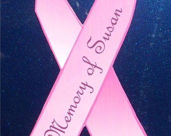 Custom Breast Cancer Memory Car Magnet