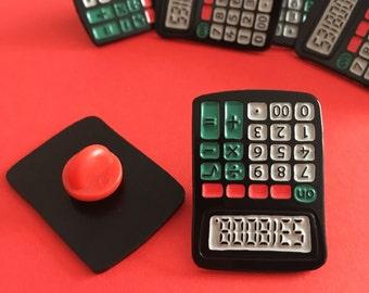 Cheeky Calculator Pin - Geeky Pins, Maths Pin, Stocking filler, Funny Lapel Pin, Tie Pin, Teacher Gift, Nerd Gift, Rude Gift, Back to School