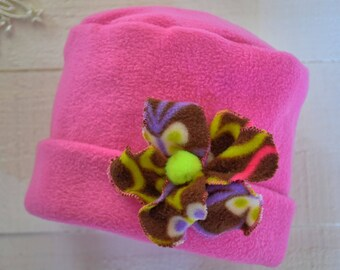 Pretty in Pink girls' flower hat
