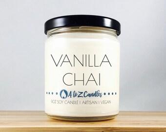 Vanilla Chai Candle, Chai Candle, Vanilla Candle, Vanilla Chai Latte, Chai Soy Candle, Soy Candles, Glass Jar Candle, Vanilla Chai