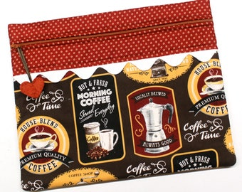 Morning Coffee Cross Stitch Embroidery Project Bag