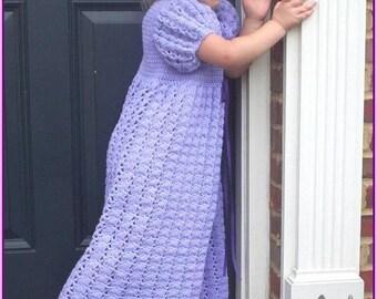 Custom Toddler Princess Dress, 3T to 4T, Crochet