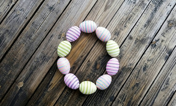 Clearance Easter Egg Garland, Easter Garland, Egg Garland with Four Inch Styrofoam Eggs