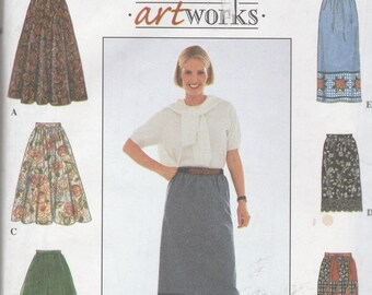 Simplicity 8458 Vintage Pattern Womens Skirts in 6 Variations Size 12,14,16 UNCUT