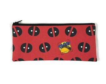 Deadpool Pencil Case, Toiletry Bag, Cosmetic Bag, Tacos Makeup Bag, Dead Pool Tampon Case, Zipper Wallet, Coin Purse, Pencil Pouch
