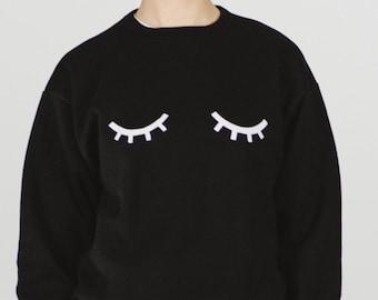 Sleepy eyes sweatshirt