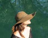 Feather Sun Hat - Brown
