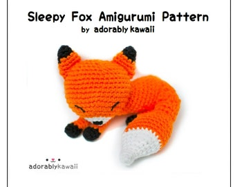 Sleepy Fox Amigurumi Pattern, Fox Crochet Pattern, PDF Amigurumi Pattern, Sleeping Fox Amigurumi, Fox Plushie, DIY Pattern, Fox Nursery Toy