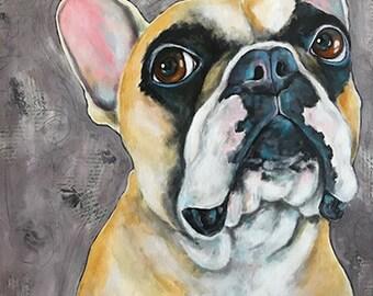 Mixed Media Pet Portraits 24x24x1.5 Canvas Custom Painted from your photographs Dog Art Dog Portrait Painting Pop Art Pet