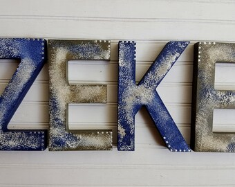 Vintage Kids Room - Boy Name Letters - Baby Name Letters - Girl Name Letters - Rustic Wall Letters - Nursery Letters