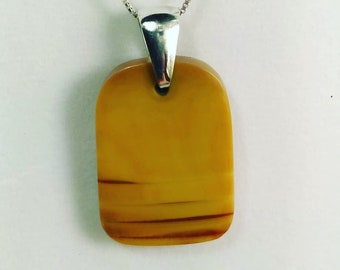 Yellow Banded Jasper on Sterling Silver