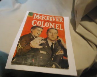 Vintage 1963 McKeever and the Colonel Feb-April #1 Comic Book Dell Comics,  collectable