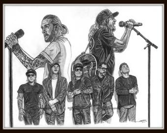 Dirty Heads Group Portrait Print