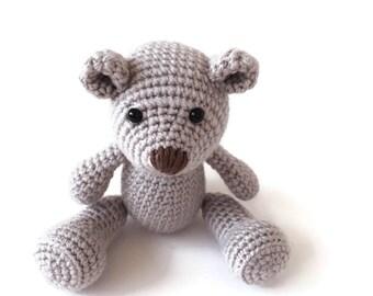 Newborn Stuffed Animal - Crochet Teddy Bear - Classic Teddy Bear - Stuffed Animal - Keepsake Toy - Memory Bear - Newborn Photo Prop - Plush