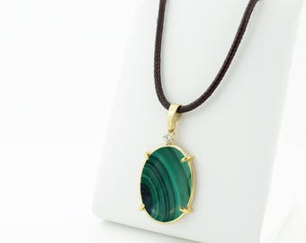 Inspiration bohemian necklace-Malachite necklace-One of a Kind Gifts-Malachite cameo-Birthday gift-Anniversary gift-Mom gift-For grandmother