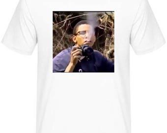 Oboma smooking graphic tshirt