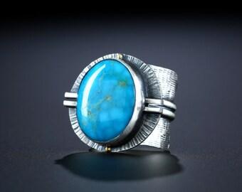 Kingman Turquoise Ring, size 10