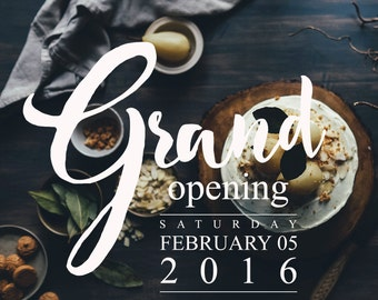 Business Templates, Grand Opening Overlay Templates, Photoshop Template, Store Graphics, BTO151, INSTANT DOWNLOAD