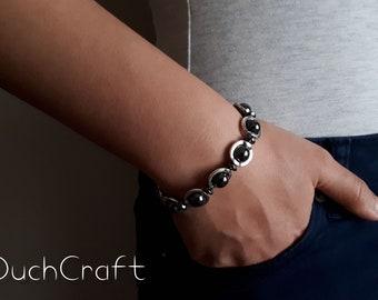 Hematite Gemstone Set / Bracelet and Pendant