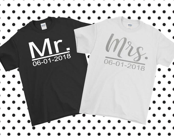 Bridal Tshirts | Wedding | Mr & Mrs | Bride Groom