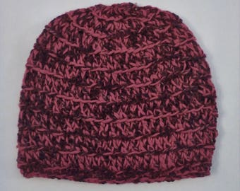 half price bamboo and rayon hat in shades of red