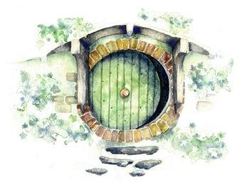 Bag End hobbit hole- Print