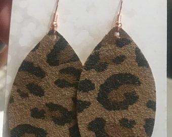 Leopard Suede Earrings