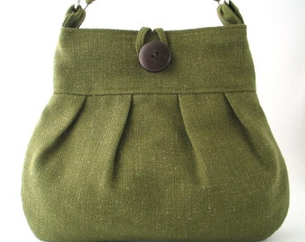 green handbag, crossbody messenger bag, cross shoulder bag, green tote bag ,fabric handbag, shoulder bag, green purse