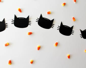 Halloween Cat Garland - Oh Goodness Paper Co