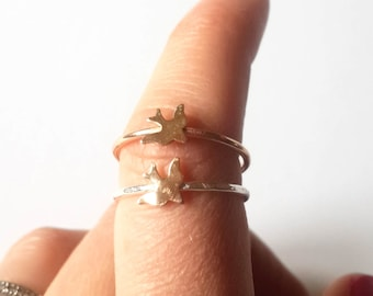 Gold Fill Sparrow Stacking Ring