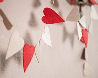 Felt Garland hearts