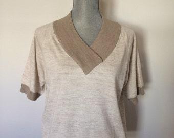 S-M 1970's Montagut Paris Sweater Shirt Size Small-Medium