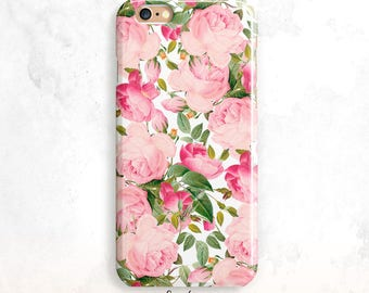 iPhone 8 Case, Vintage Roses iPhone 7 Case,Floral iPhone X Case, iPhone 6 Plus, iPhone 6S Case, Pink Roses iPhone 6 Case, Floral iPhone 5