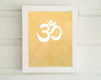 Om Art Print - Various Sizes: 4x6, 5x7, 8x10, 11x14 - Choose from 3 Different Colors