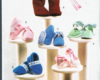 Size NB-M Baby Girl or Boy Shoes Sewing Pattern - Baby Booties Sewing Pattern - Baby Sandals Pattern - Sewing For Babies - Vogue 7707