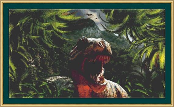 Tyrannosaurus Rex Cross Stitch Pattern - Digital Download